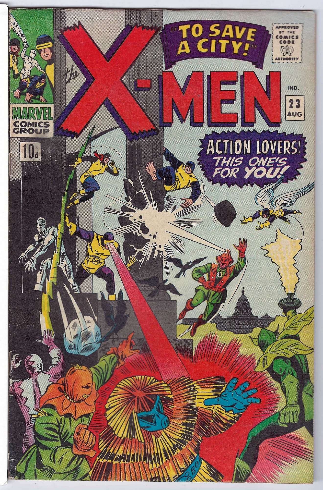 Cover of Uncanny X-Men (Vol 1) #23. One of 250,000 Vintage American Comics on sale from Krypton!