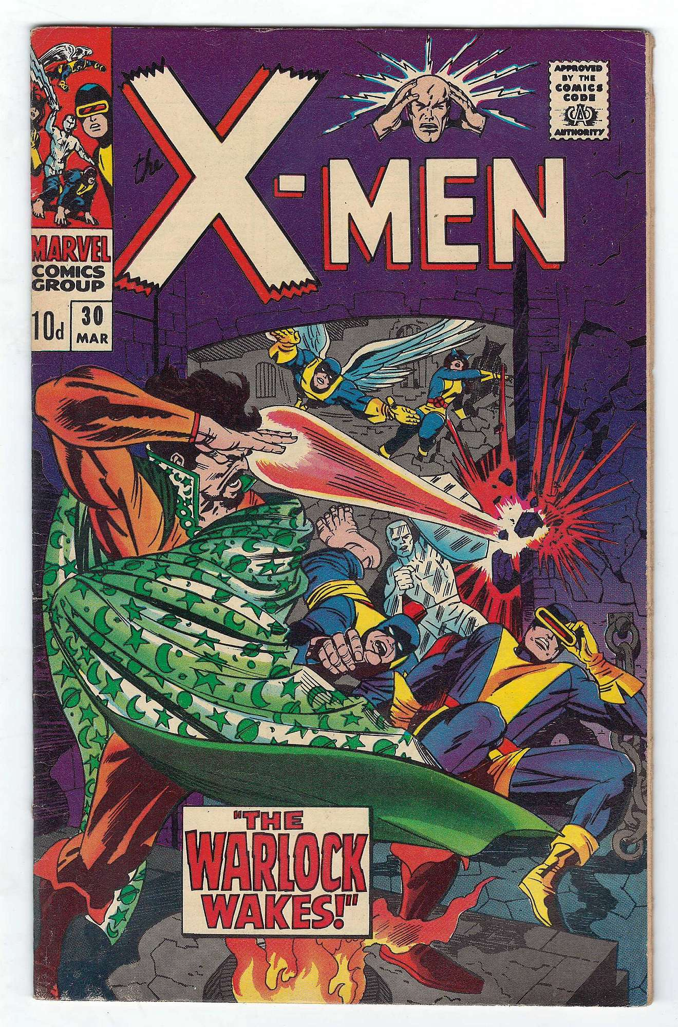 Cover of Uncanny X-Men (Vol 1) #30. One of 250,000 Vintage American Comics on sale from Krypton!