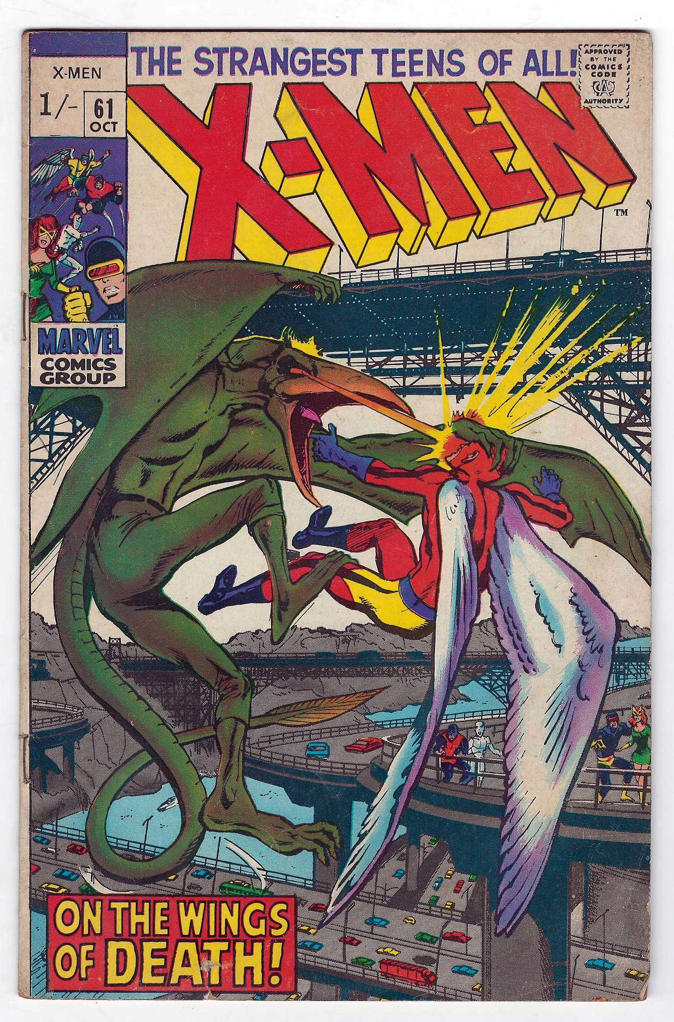 Cover of Uncanny X-Men (Vol 1) #61. One of 250,000 Vintage American Comics on sale from Krypton!