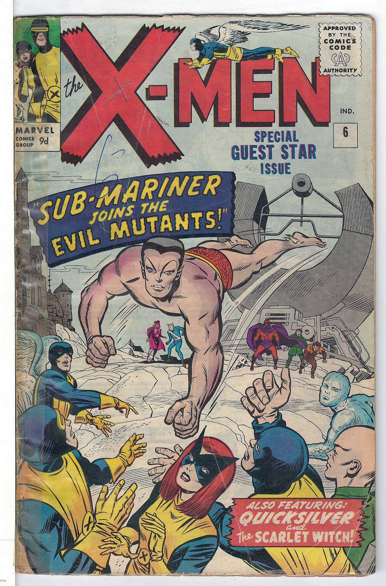 Cover of Uncanny X-Men (Vol 1) #6. One of 250,000 Vintage American Comics on sale from Krypton!