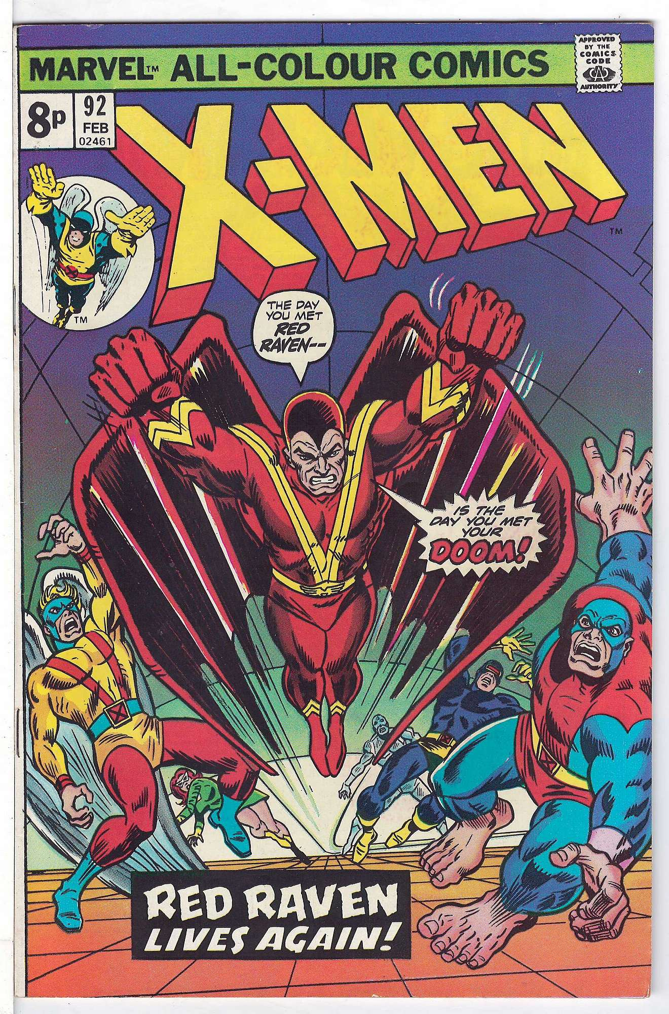 Cover of Uncanny X-Men (Vol 1) #92. One of 250,000 Vintage American Comics on sale from Krypton!