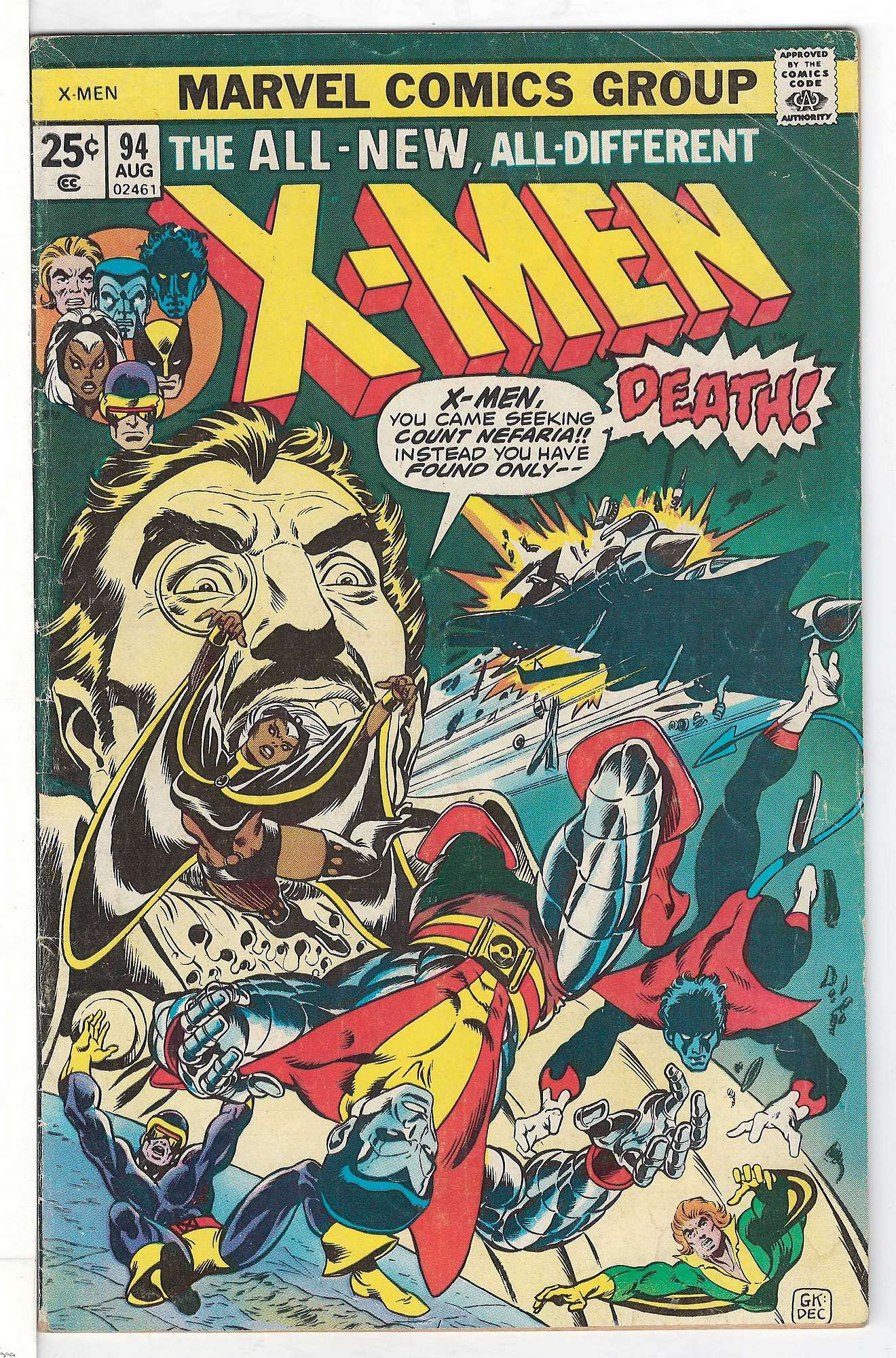 Cover of Uncanny X-Men (Vol 1) #94. One of 250,000 Vintage American Comics on sale from Krypton!