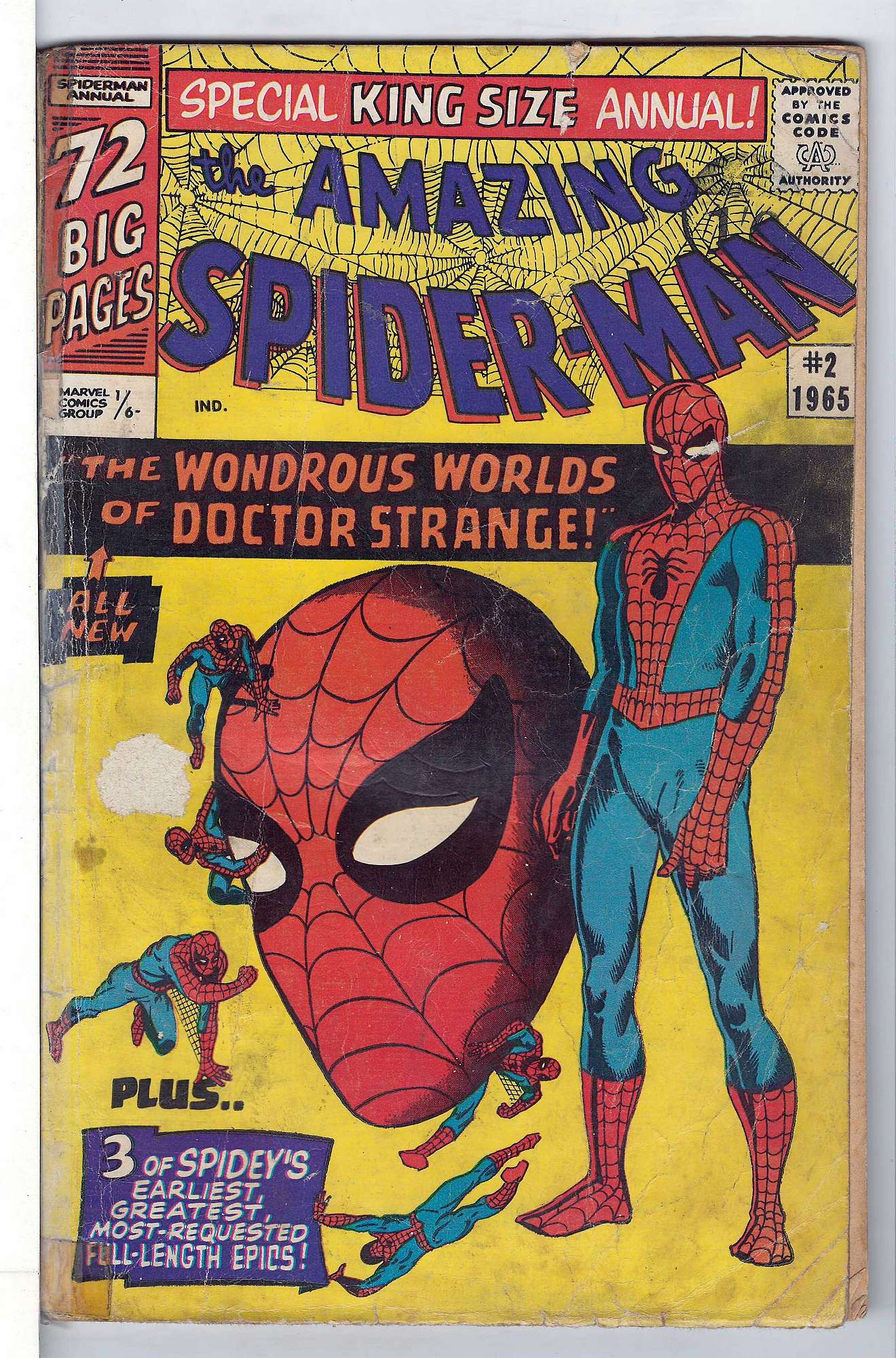 Cover of Amazing Spider-Man Annual (Vol 1) #2. One of 250,000 Vintage American Comics on sale from Krypton!