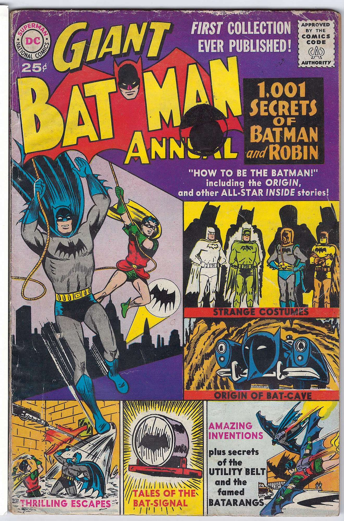 Cover of Batman Annual #1. One of 250,000 Vintage American Comics on sale from Krypton!