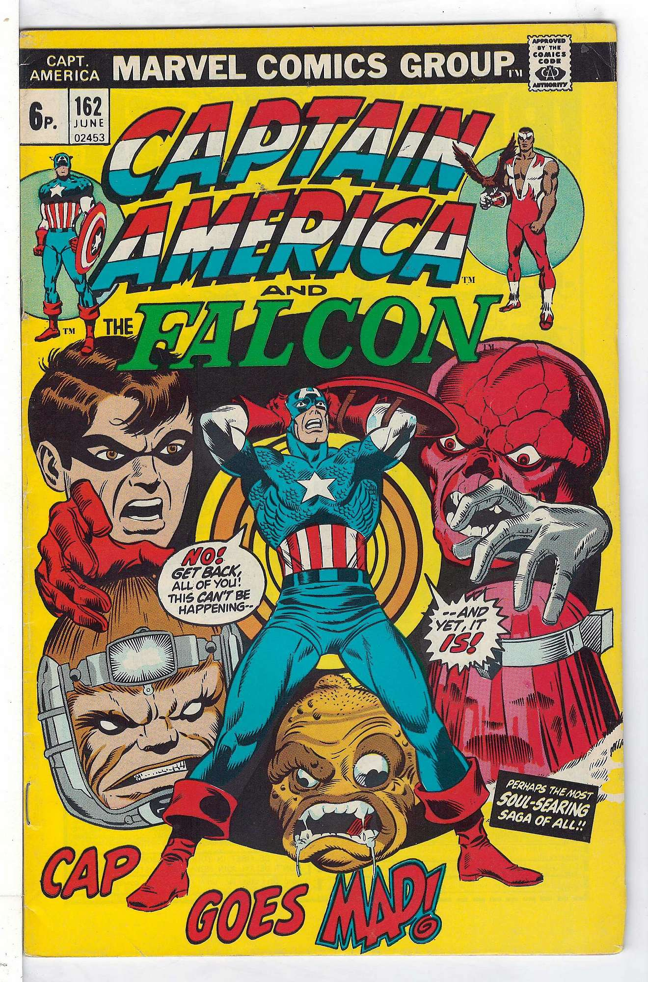 Cover of Captain America (Vol 1) #162. One of 250,000 Vintage American Comics on sale from Krypton!