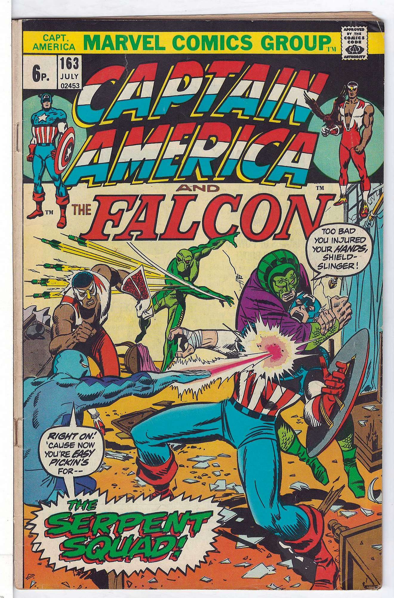 Cover of Captain America (Vol 1) #163. One of 250,000 Vintage American Comics on sale from Krypton!