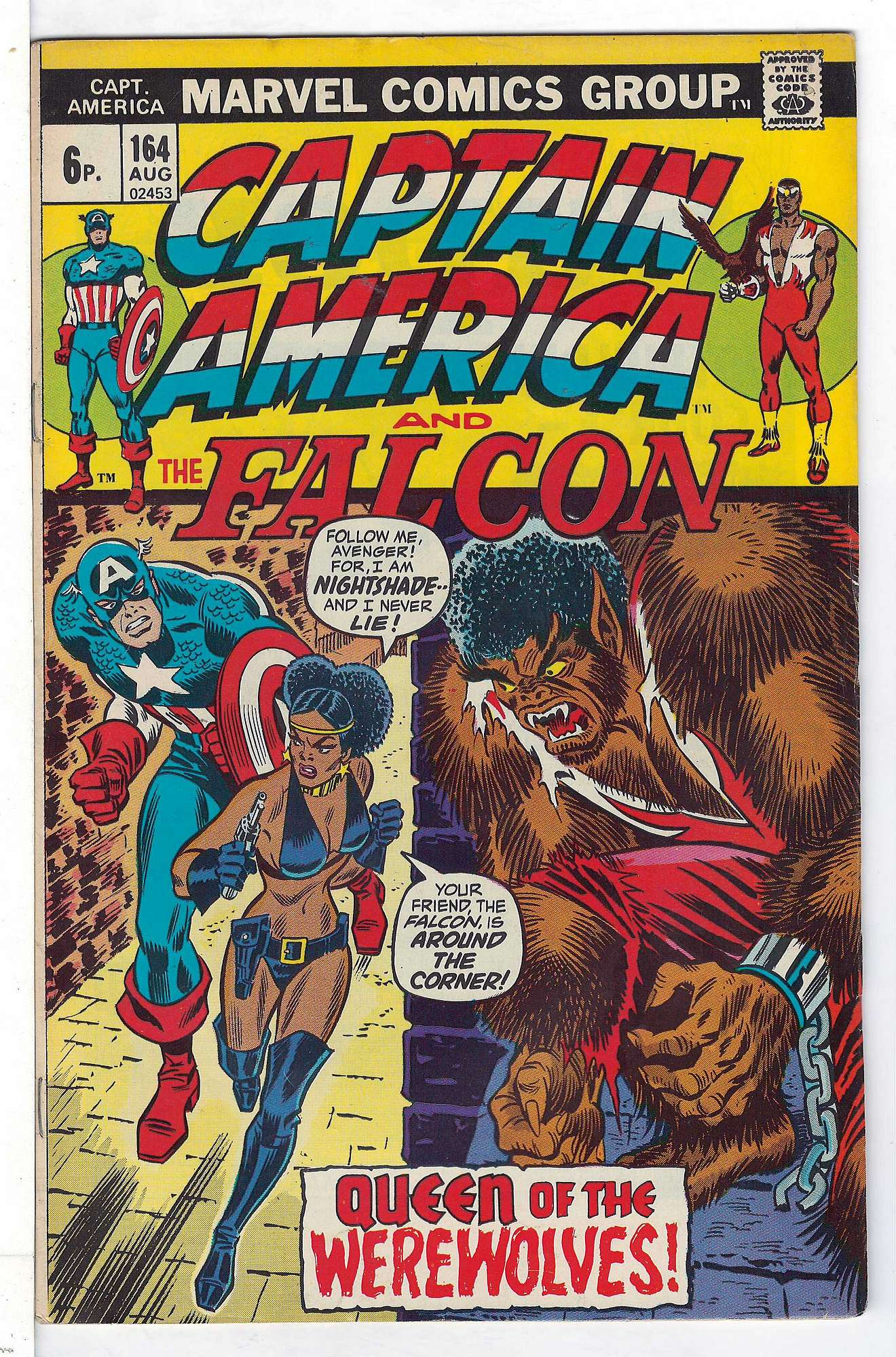 Cover of Captain America (Vol 1) #164. One of 250,000 Vintage American Comics on sale from Krypton!