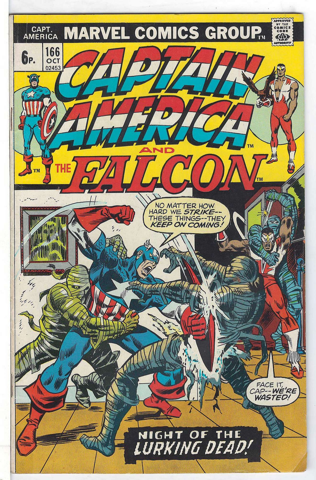 Cover of Captain America (Vol 1) #166. One of 250,000 Vintage American Comics on sale from Krypton!