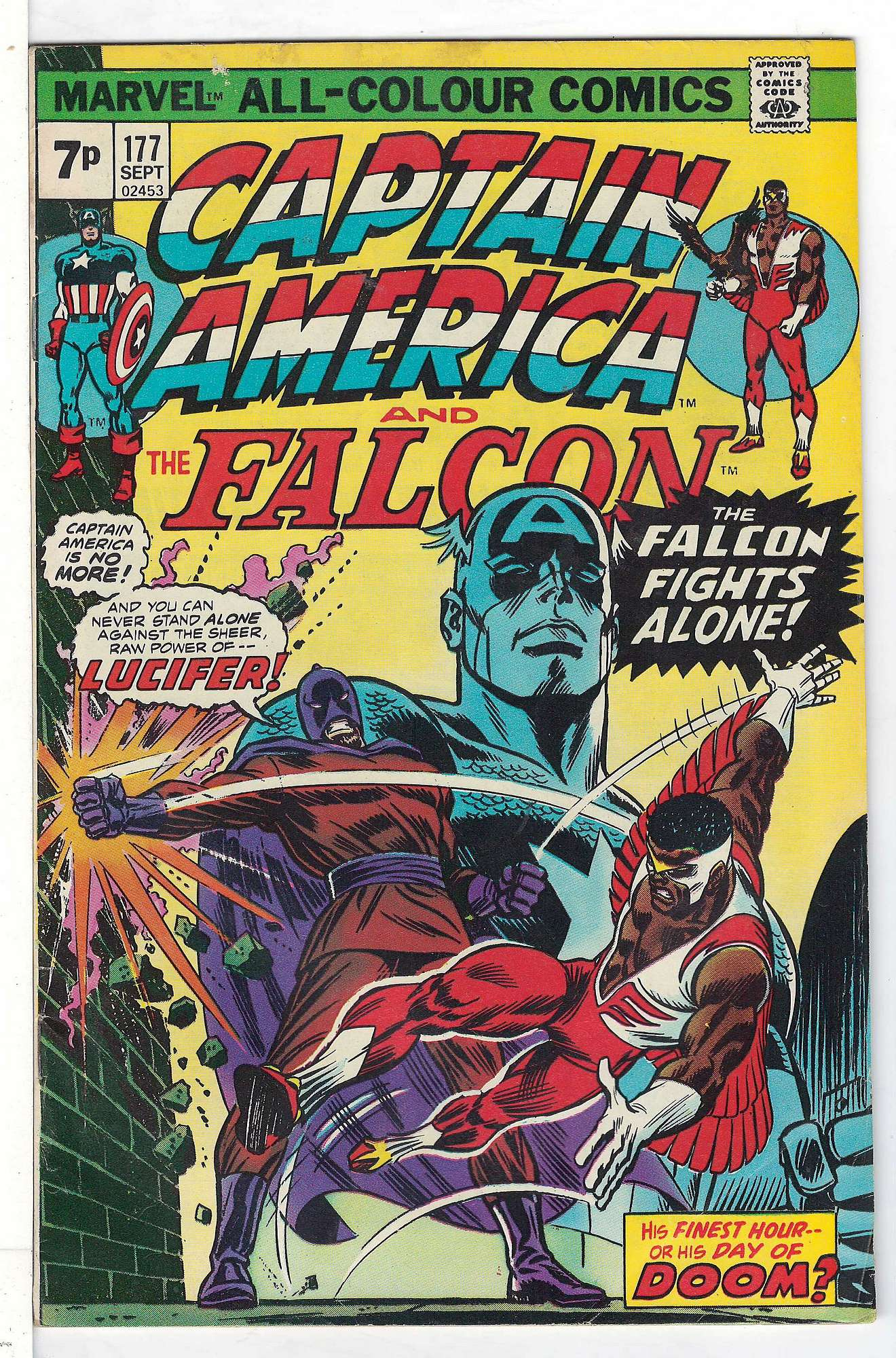 Cover of Captain America (Vol 1) #177. One of 250,000 Vintage American Comics on sale from Krypton!