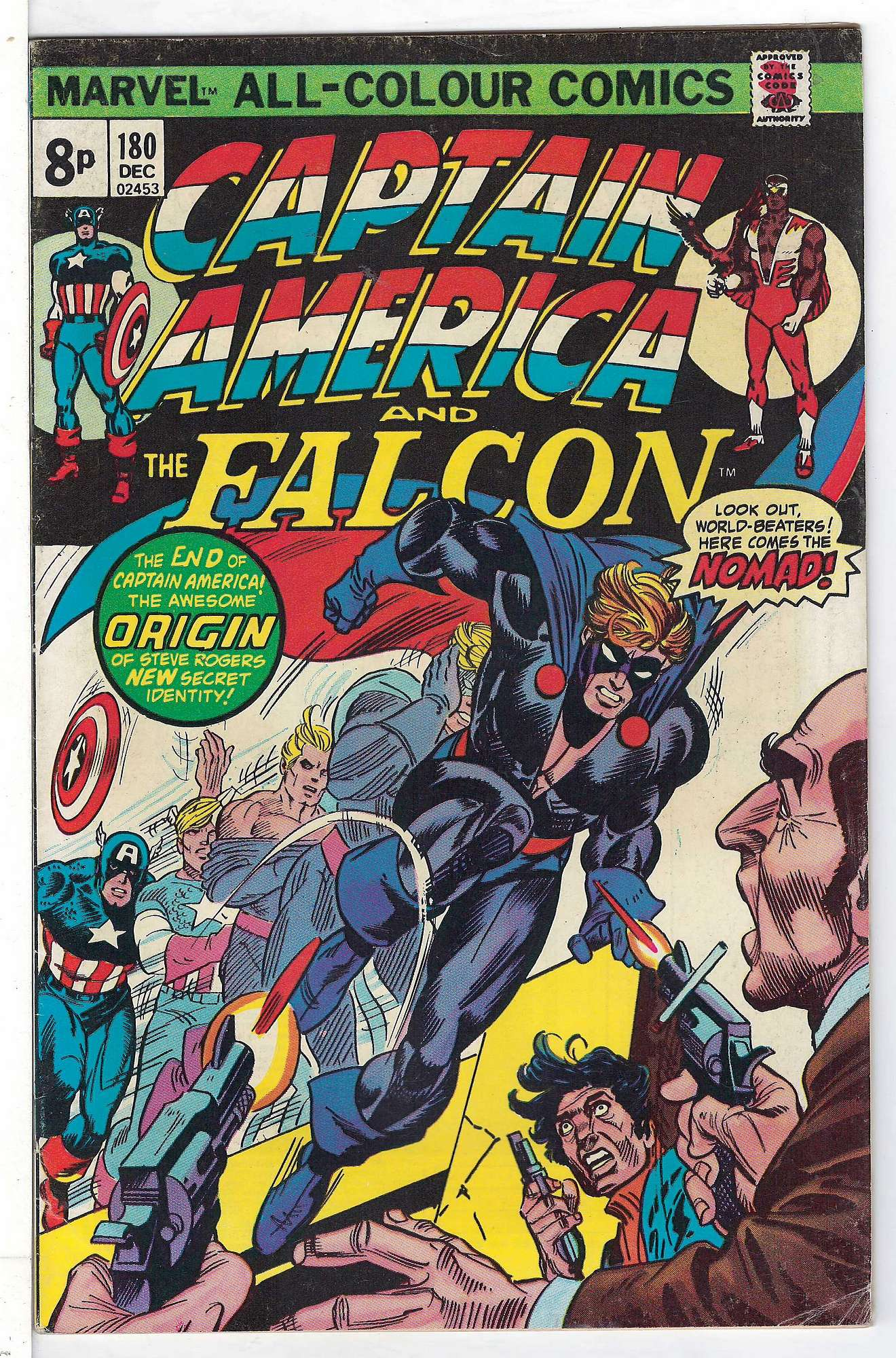 Cover of Captain America (Vol 1) #180. One of 250,000 Vintage American Comics on sale from Krypton!