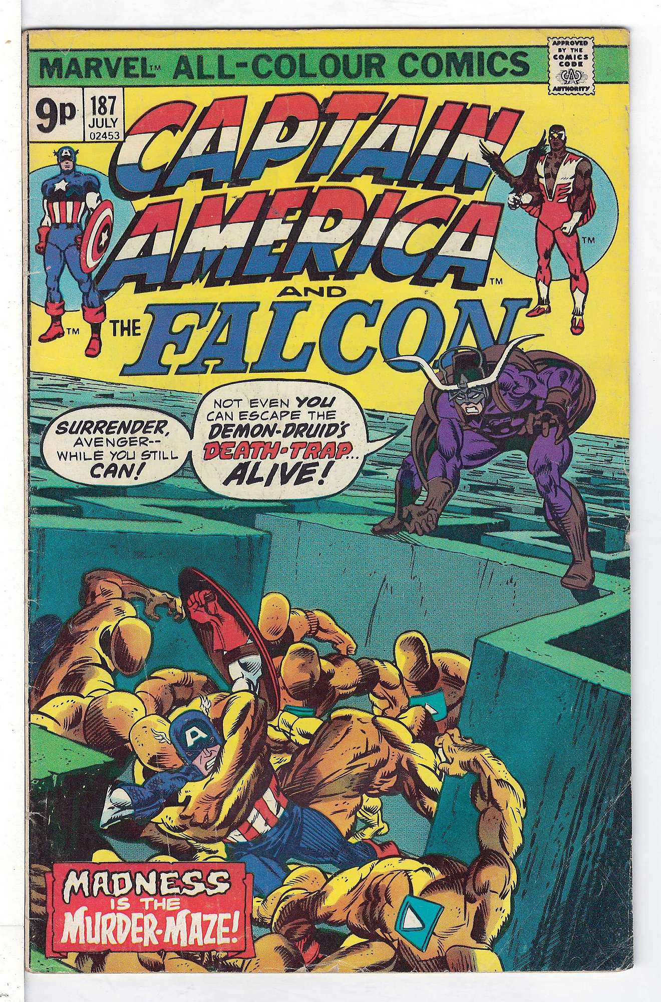 Cover of Captain America (Vol 1) #187. One of 250,000 Vintage American Comics on sale from Krypton!