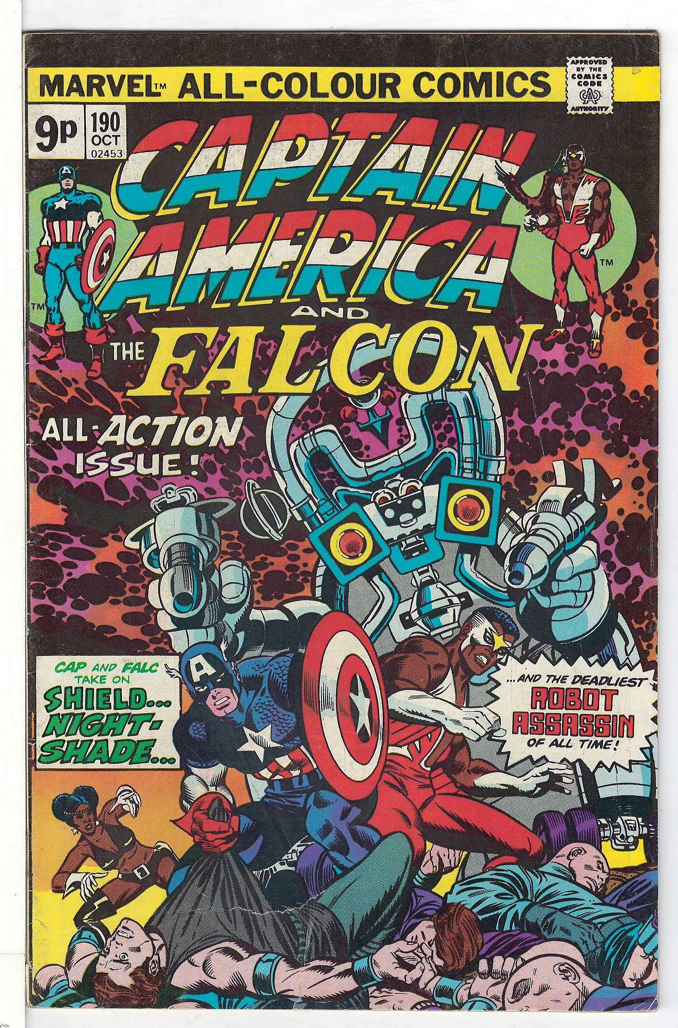 Cover of Captain America (Vol 1) #190. One of 250,000 Vintage American Comics on sale from Krypton!