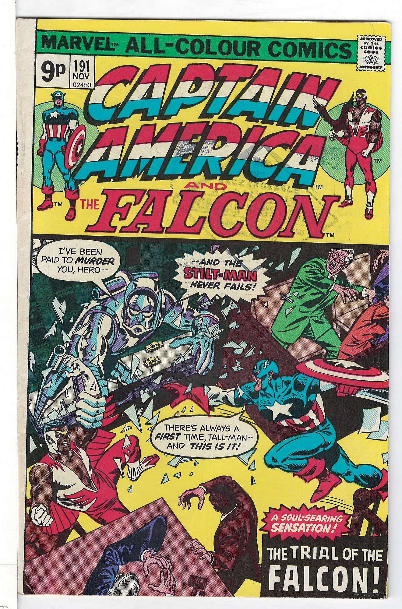 Cover of Captain America (Vol 1) #191. One of 250,000 Vintage American Comics on sale from Krypton!