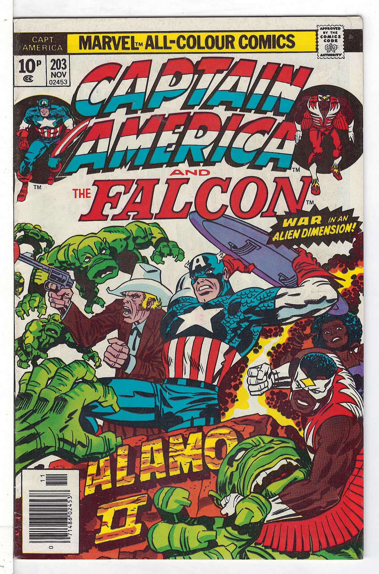 Cover of Captain America (Vol 1) #203. One of 250,000 Vintage American Comics on sale from Krypton!