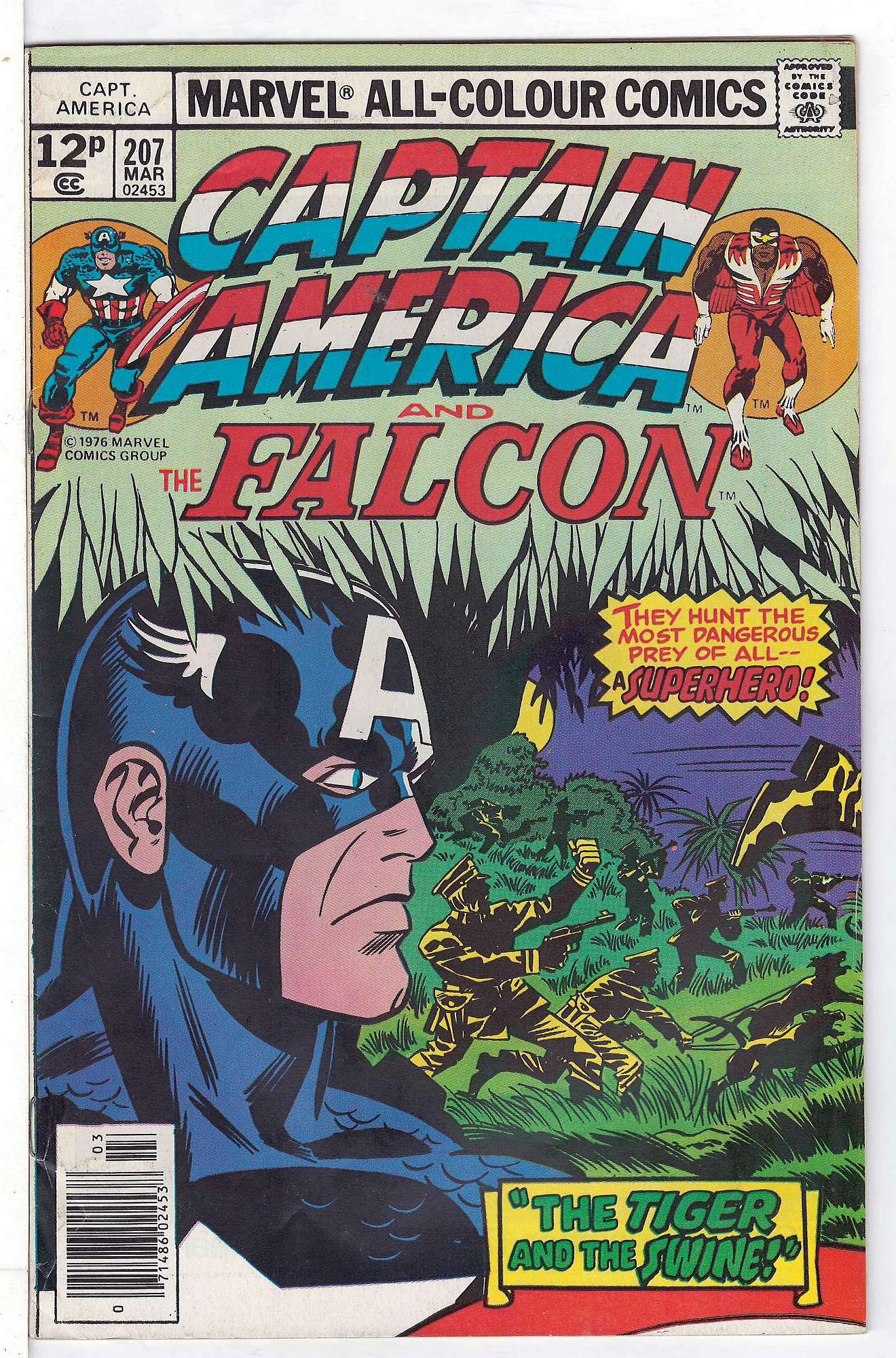 Cover of Captain America (Vol 1) #207. One of 250,000 Vintage American Comics on sale from Krypton!