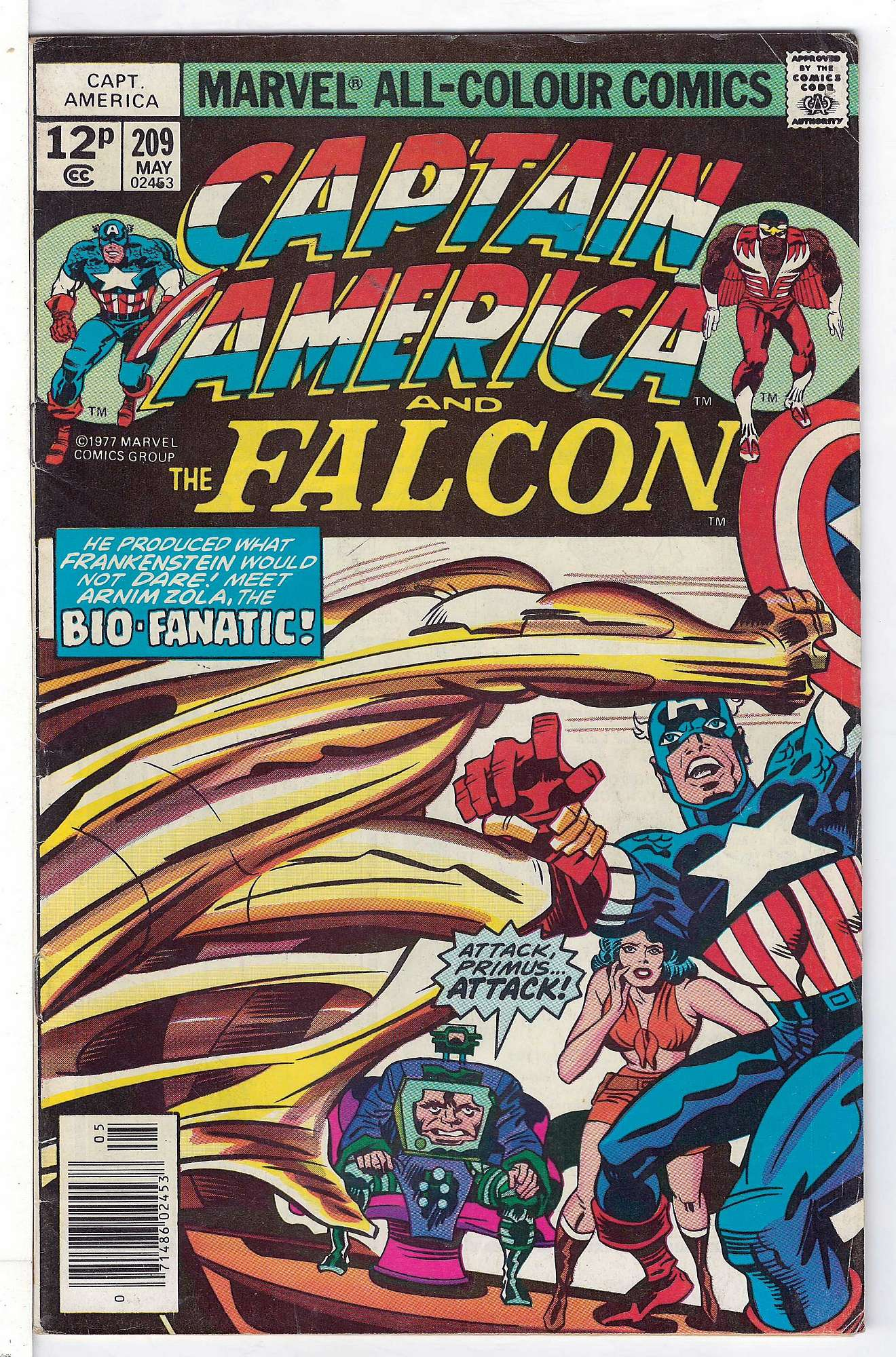 Cover of Captain America (Vol 1) #209. One of 250,000 Vintage American Comics on sale from Krypton!