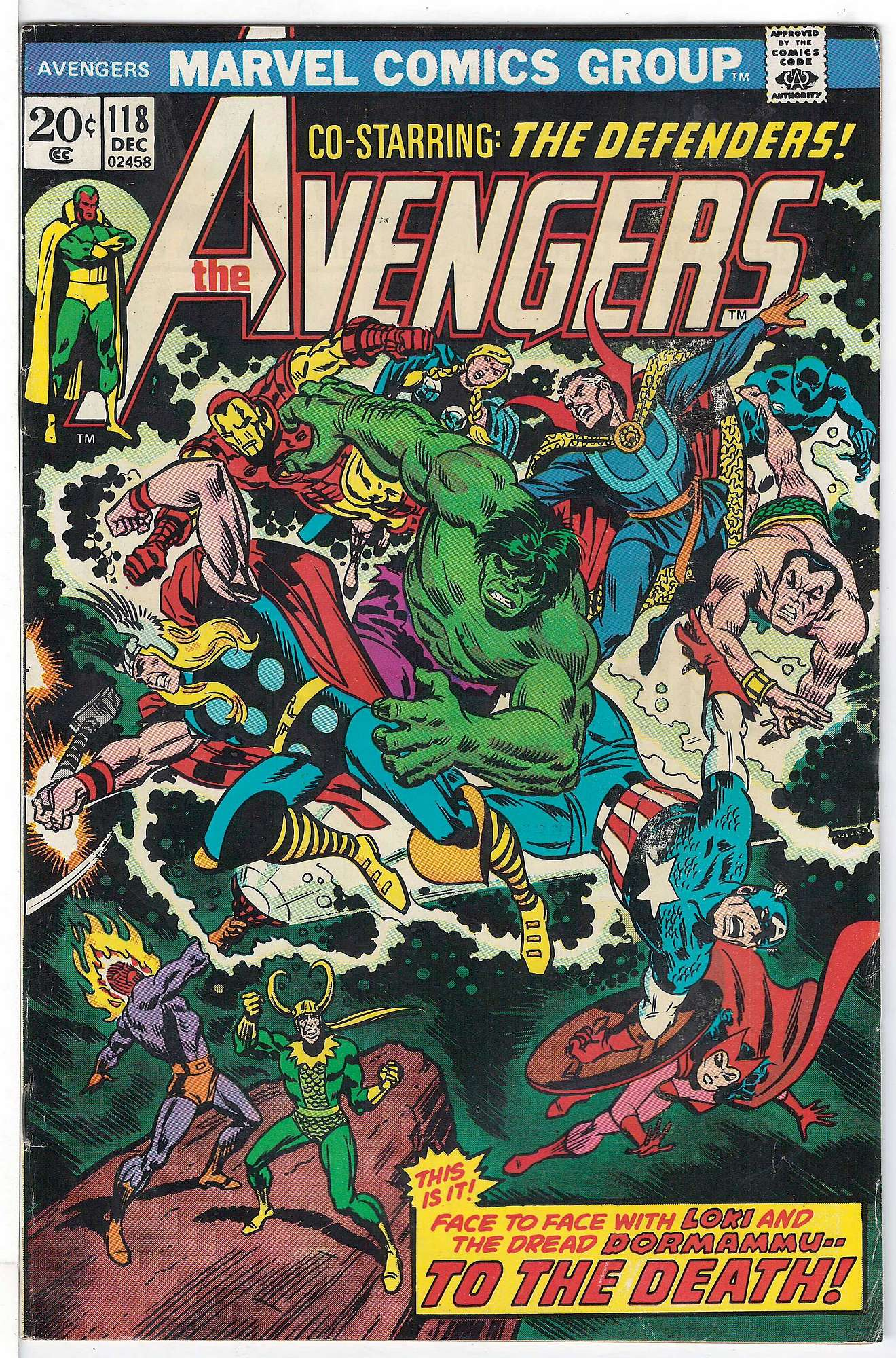 Cover of Avengers (Vol 1) #118. One of 250,000 Vintage American Comics on sale from Krypton!