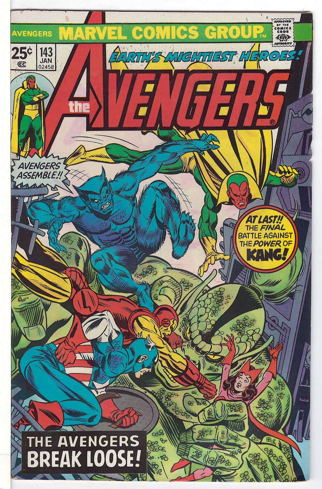 Cover of Avengers (Vol 1) #143. One of 250,000 Vintage American Comics on sale from Krypton!