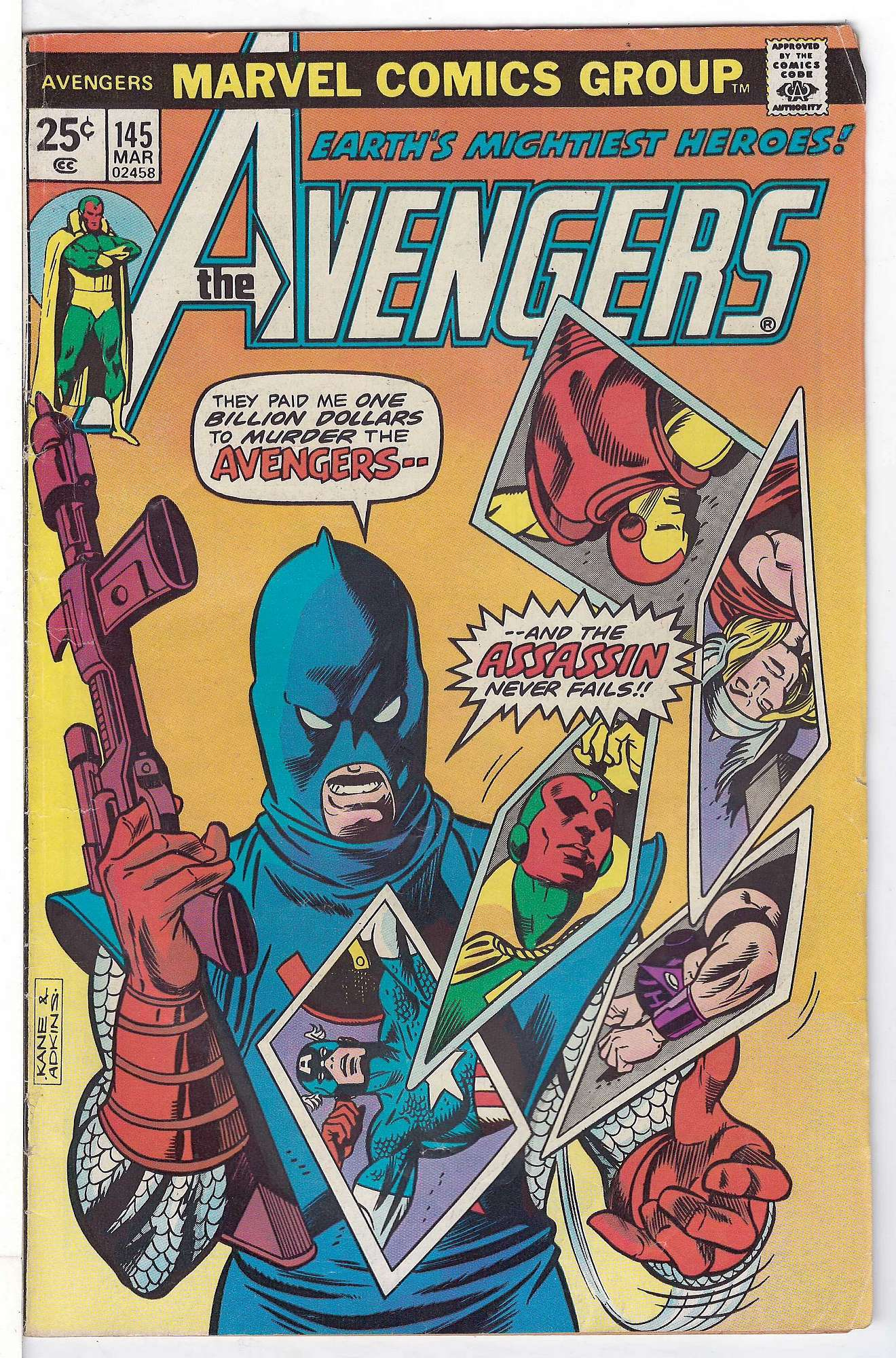 Cover of Avengers (Vol 1) #145. One of 250,000 Vintage American Comics on sale from Krypton!