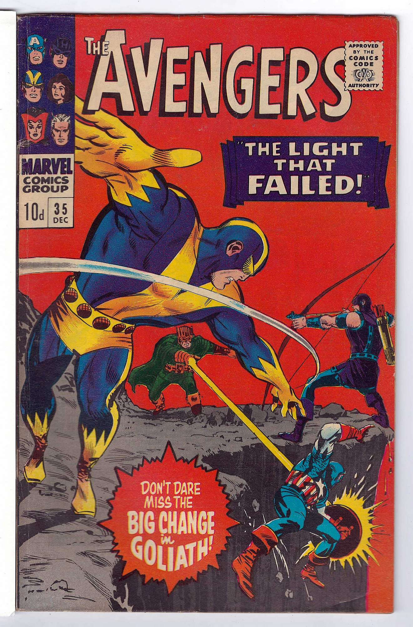 Cover of Avengers (Vol 1) #35. One of 250,000 Vintage American Comics on sale from Krypton!