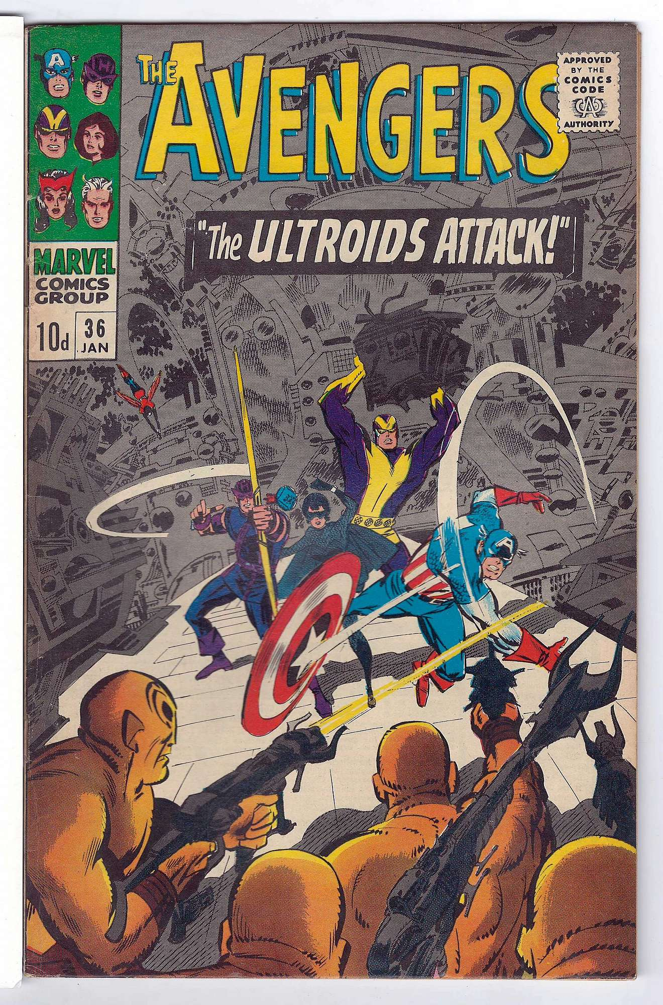 Cover of Avengers (Vol 1) #36. One of 250,000 Vintage American Comics on sale from Krypton!