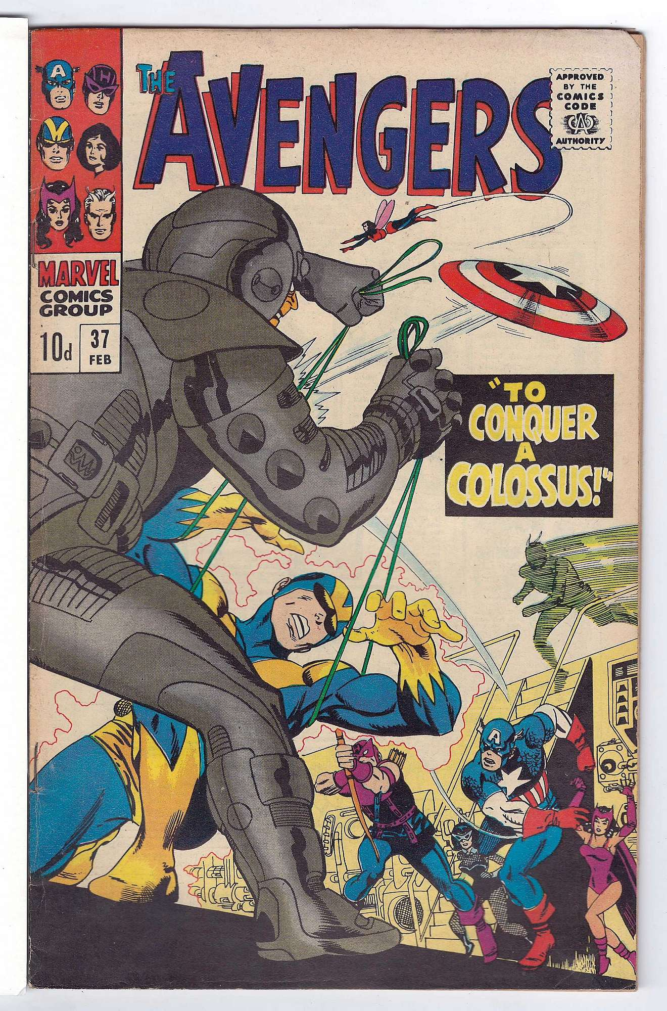 Cover of Avengers (Vol 1) #37. One of 250,000 Vintage American Comics on sale from Krypton!