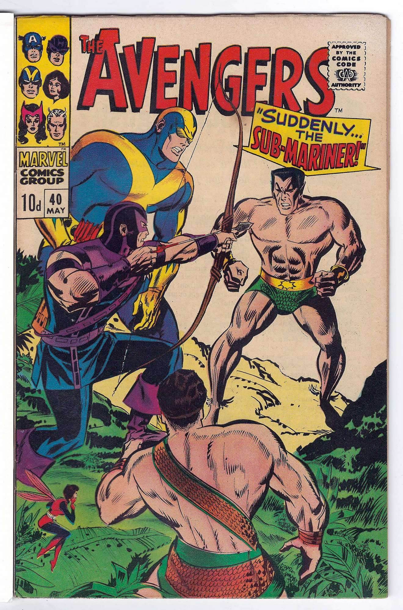 Cover of Avengers (Vol 1) #40. One of 250,000 Vintage American Comics on sale from Krypton!