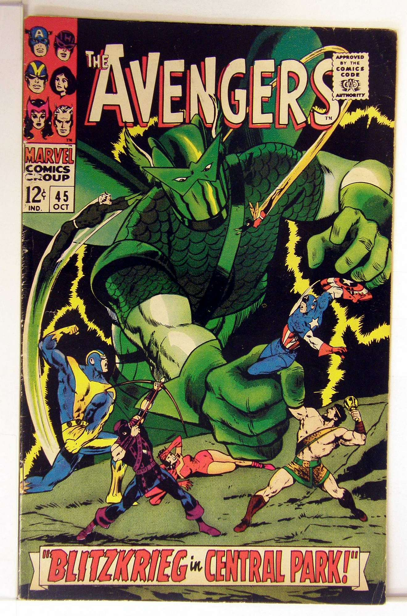 Cover of Avengers (Vol 1) #45. One of 250,000 Vintage American Comics on sale from Krypton!