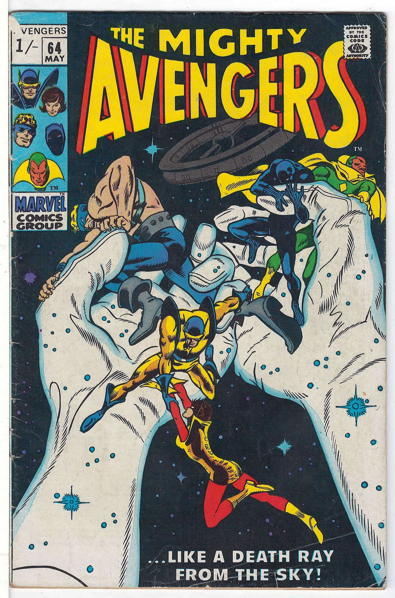 Cover of Avengers (Vol 1) #64. One of 250,000 Vintage American Comics on sale from Krypton!