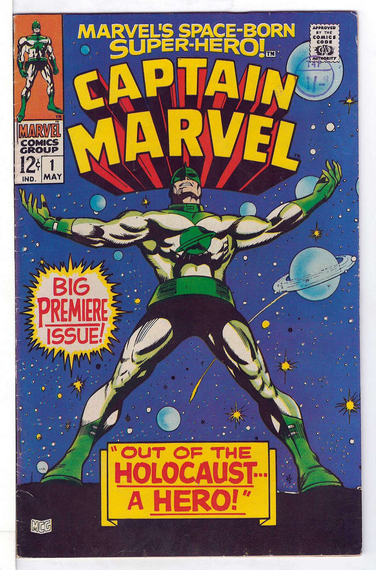 Cover of Captain Marvel (Vol 1) #1. One of 250,000 Vintage American Comics on sale from Krypton!