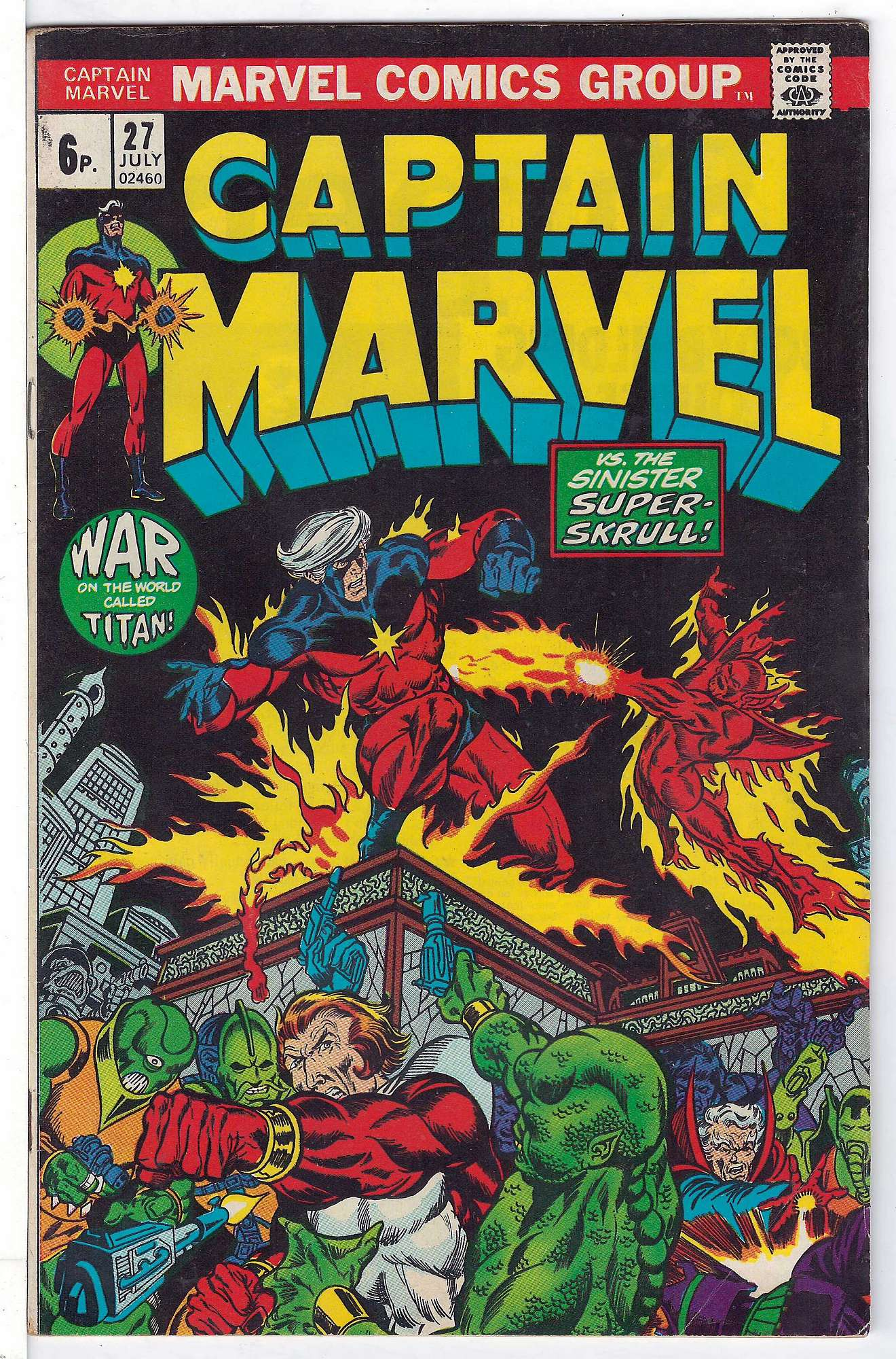Cover of Captain Marvel (Vol 1) #27. One of 250,000 Vintage American Comics on sale from Krypton!