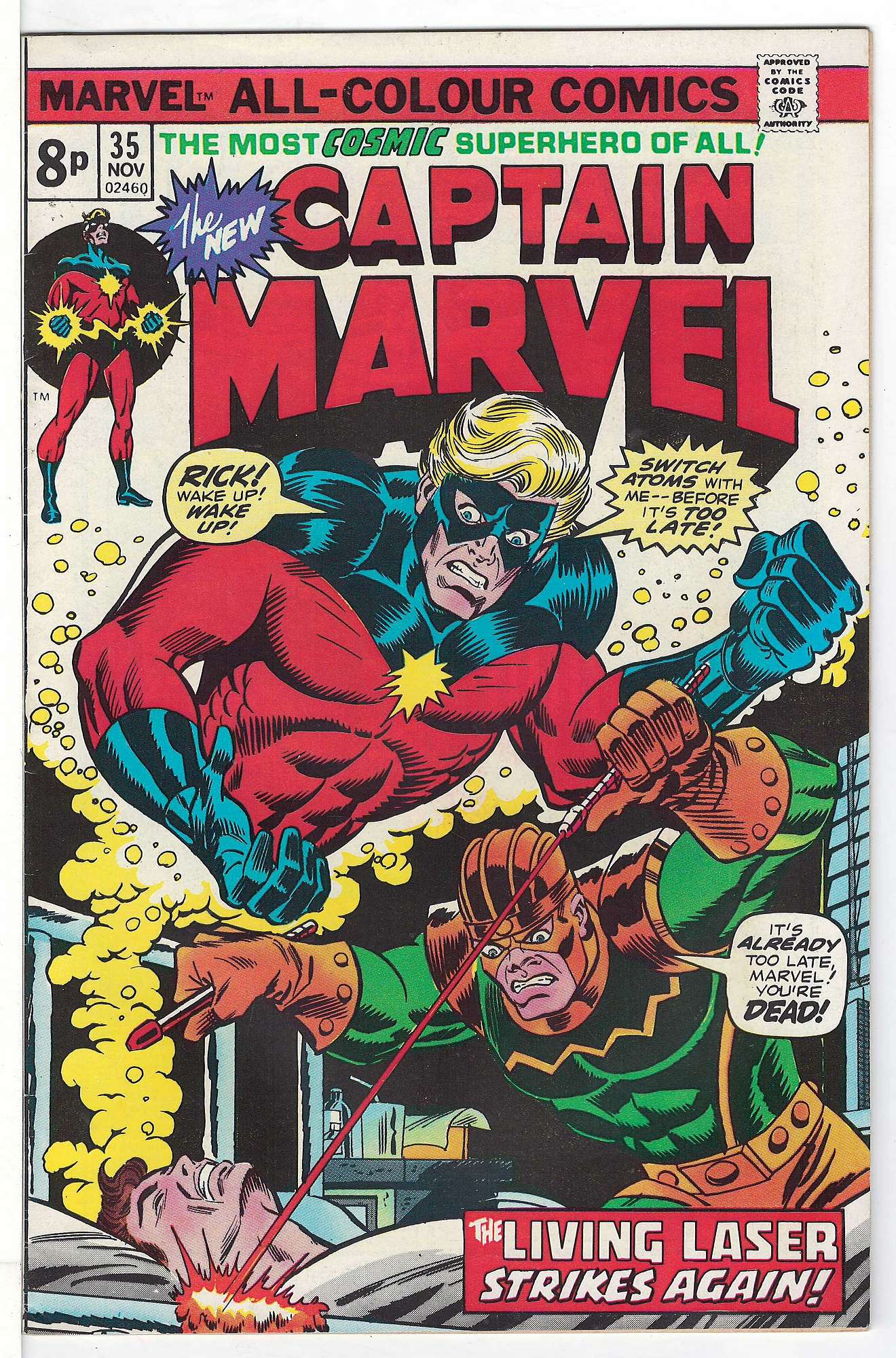 Cover of Captain Marvel (Vol 1) #35. One of 250,000 Vintage American Comics on sale from Krypton!