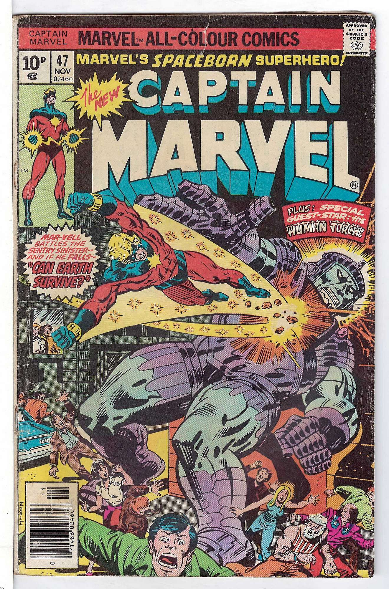 Cover of Captain Marvel (Vol 1) #47. One of 250,000 Vintage American Comics on sale from Krypton!