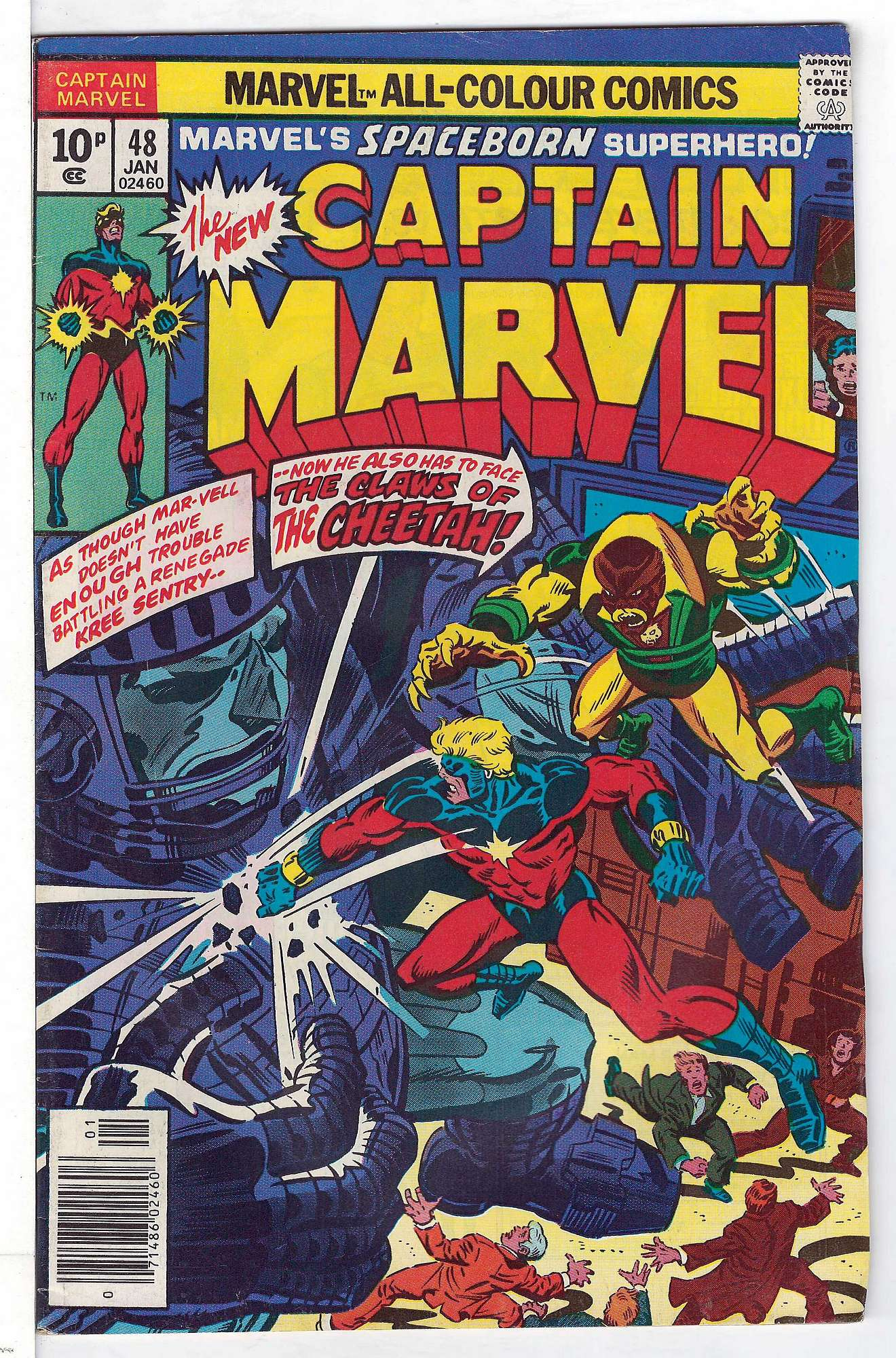 Cover of Captain Marvel (Vol 1) #48. One of 250,000 Vintage American Comics on sale from Krypton!