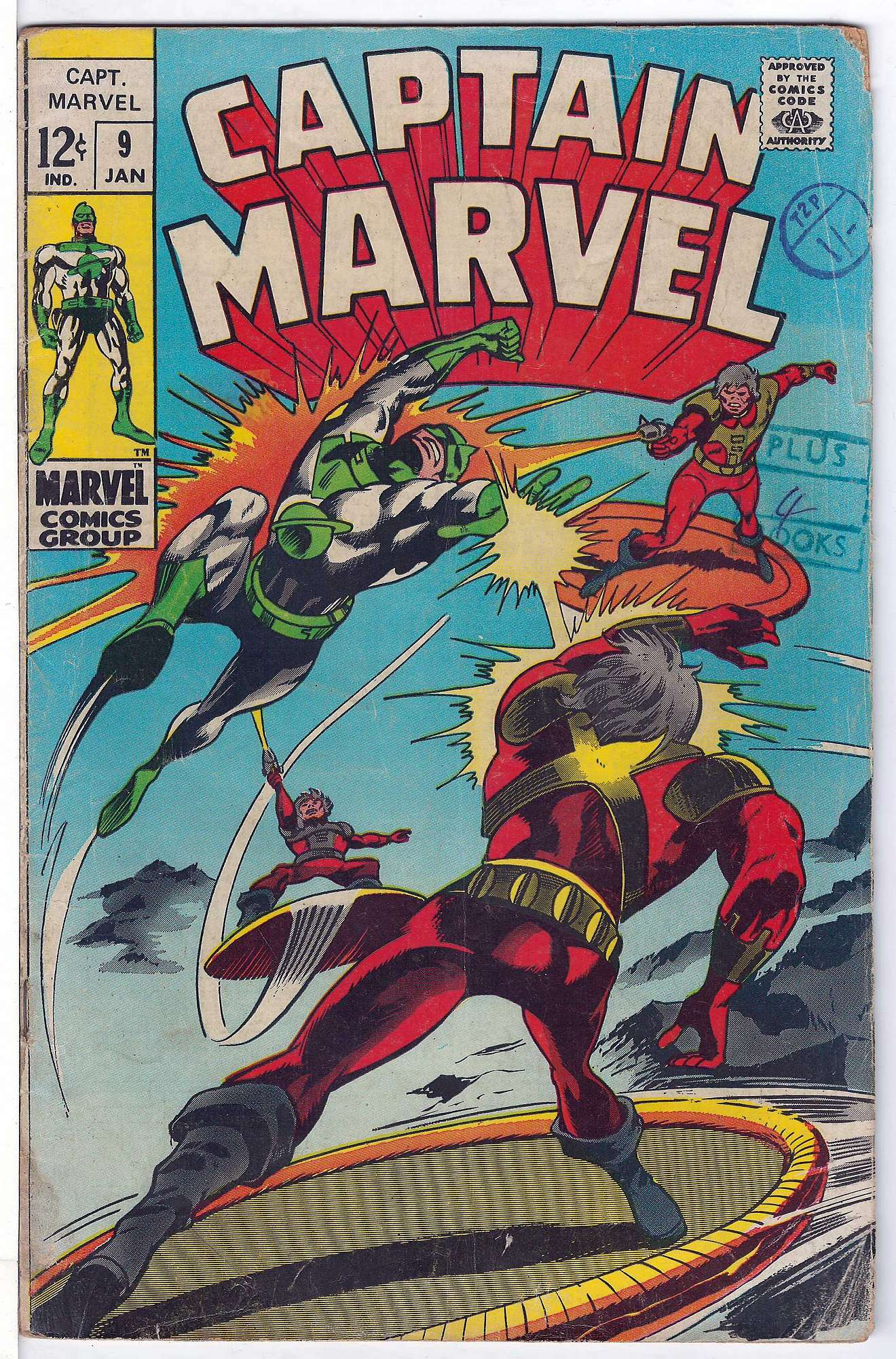 Cover of Captain Marvel (Vol 1) #9. One of 250,000 Vintage American Comics on sale from Krypton!