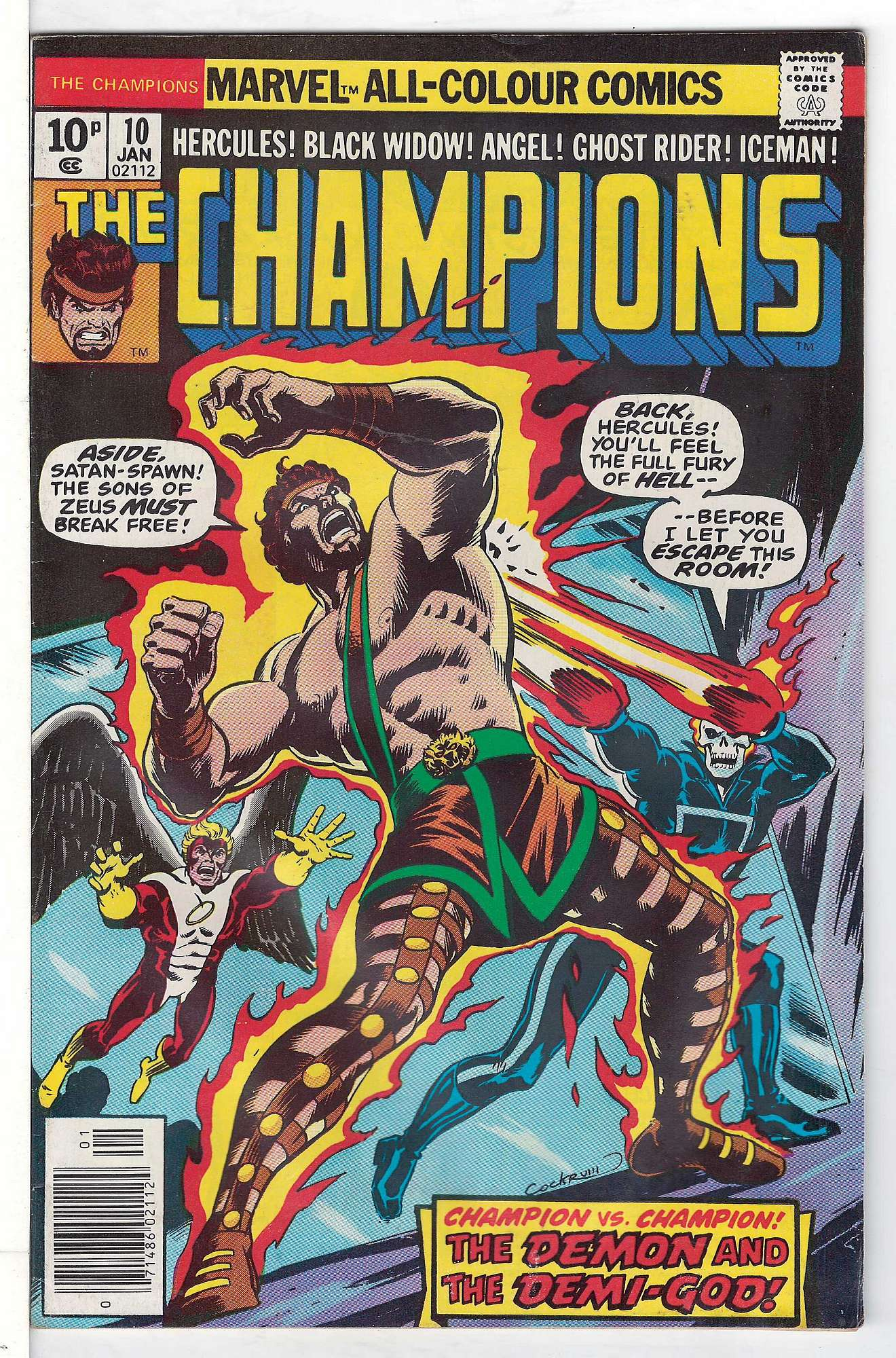 Cover of Champions (Vol 1) The #10. One of 250,000 Vintage American Comics on sale from Krypton!
