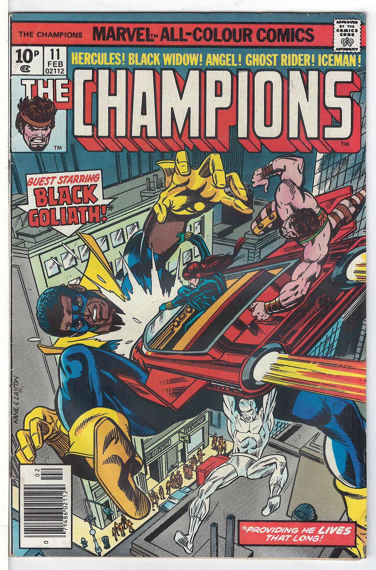 Cover of Champions (Vol 1) The #11. One of 250,000 Vintage American Comics on sale from Krypton!
