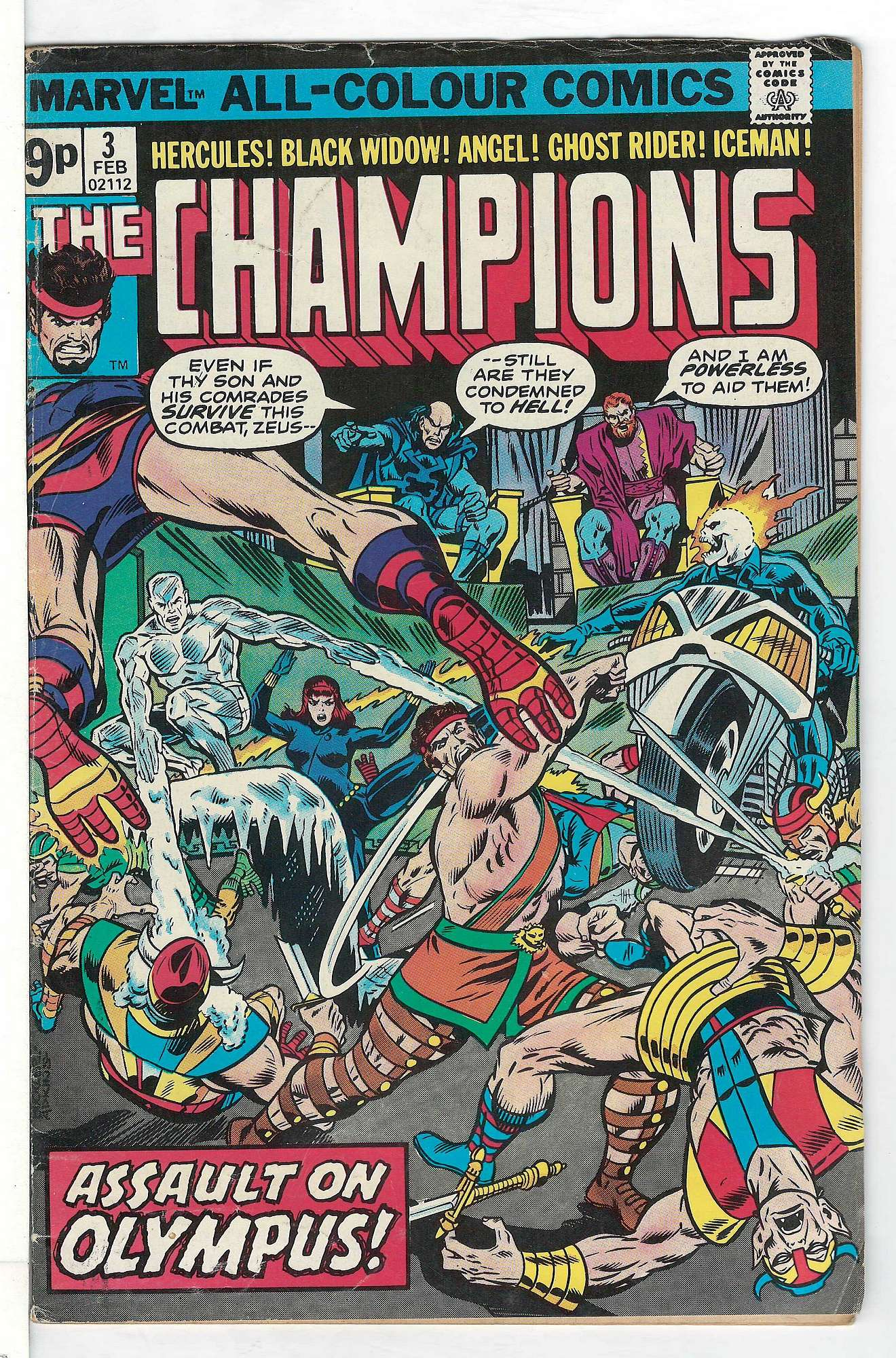 Cover of Champions (Vol 1) The #3. One of 250,000 Vintage American Comics on sale from Krypton!