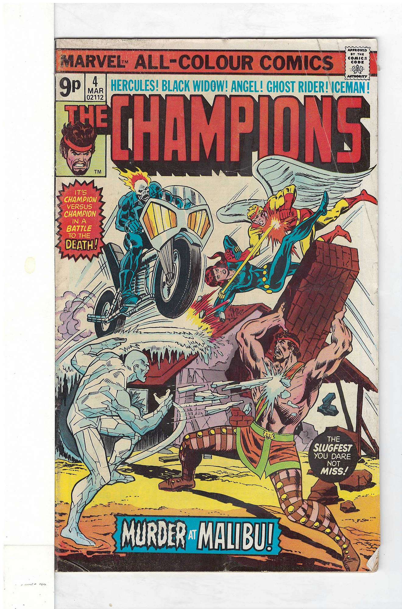 Cover of Champions (Vol 1) The #4. One of 250,000 Vintage American Comics on sale from Krypton!