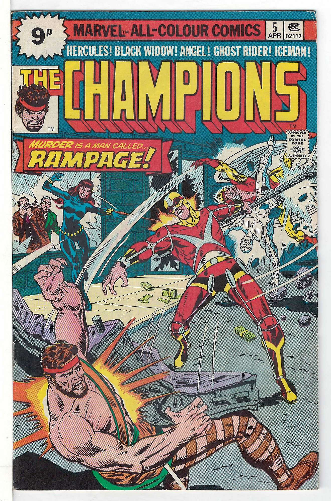 Cover of Champions (Vol 1) The #5. One of 250,000 Vintage American Comics on sale from Krypton!