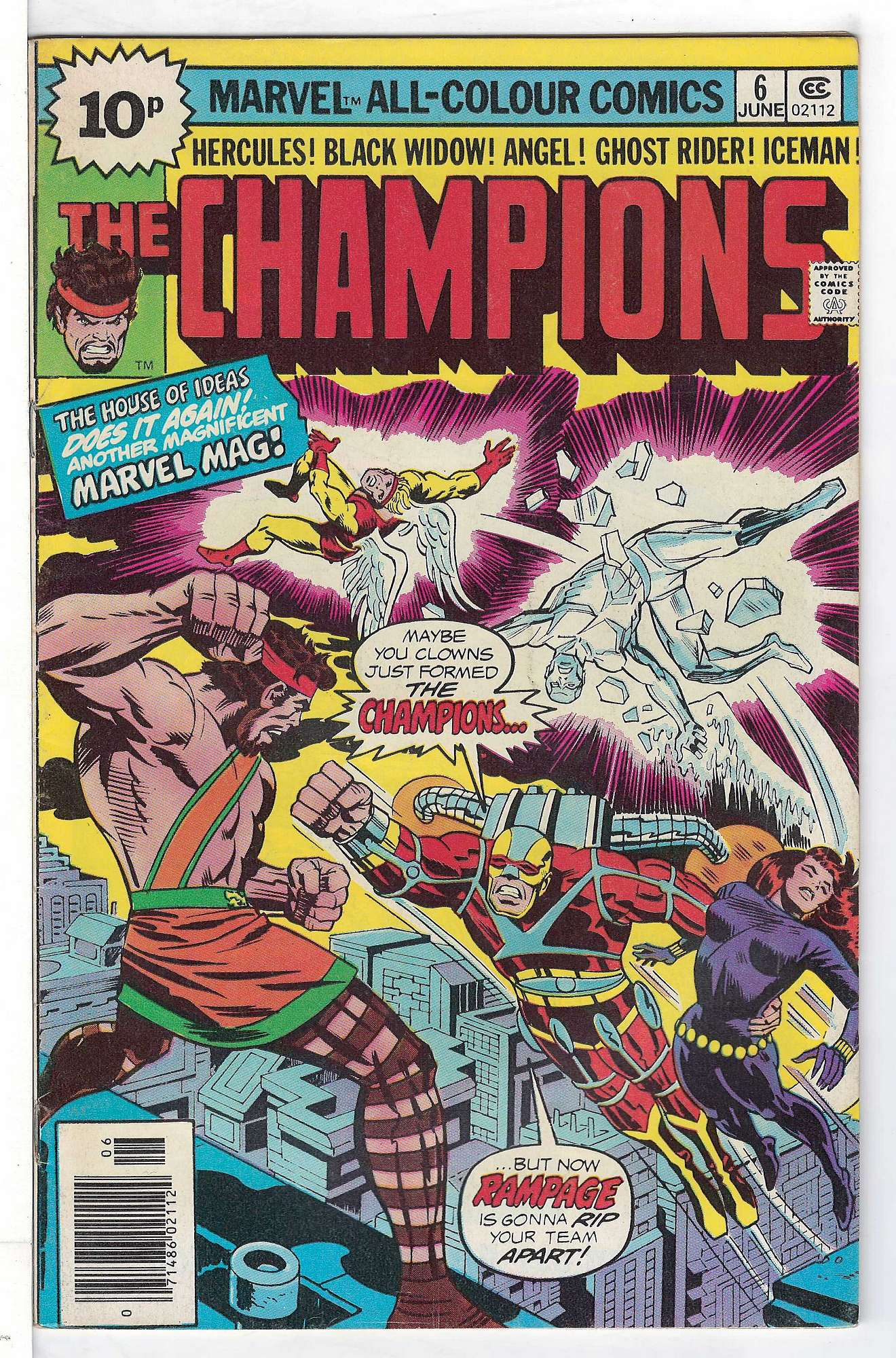 Cover of Champions (Vol 1) The #6. One of 250,000 Vintage American Comics on sale from Krypton!