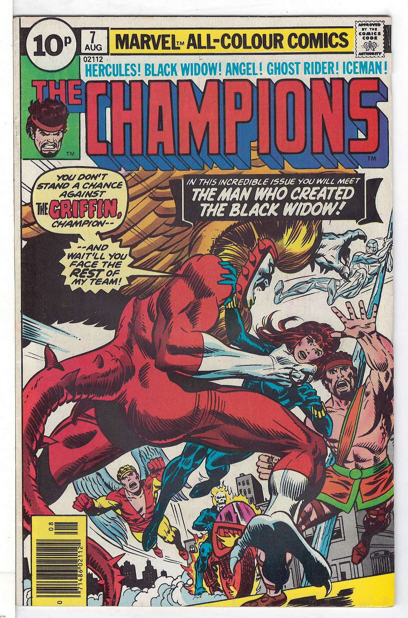 Cover of Champions (Vol 1) The #7. One of 250,000 Vintage American Comics on sale from Krypton!