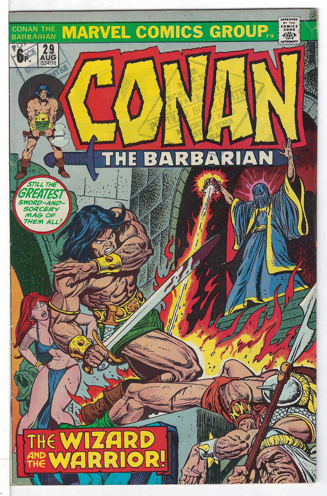 Cover of Conan the Barbarian (Vol 1) #29. One of 250,000 Vintage American Comics on sale from Krypton!