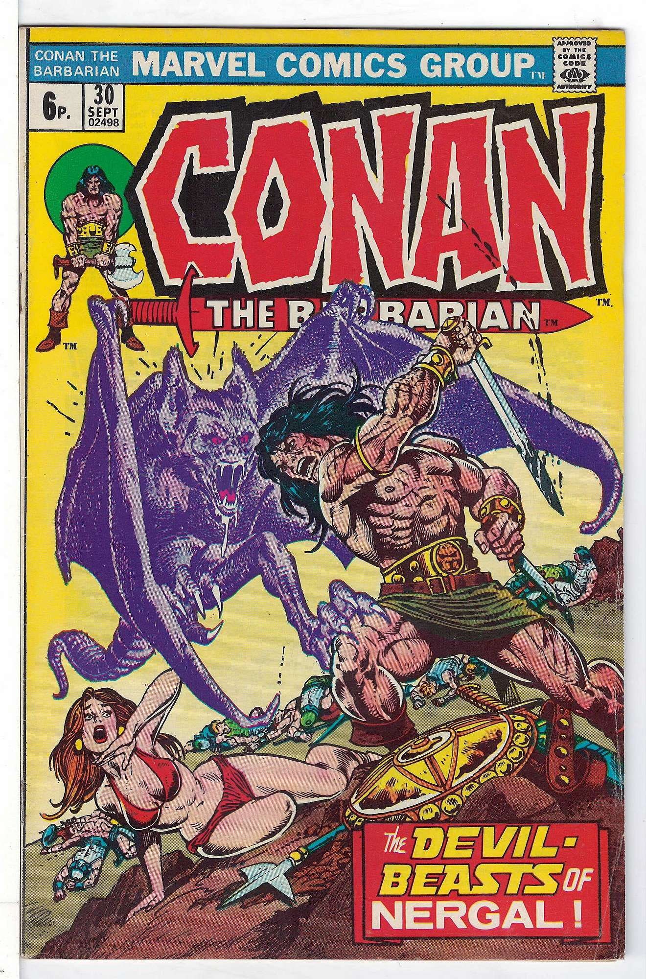 Cover of Conan the Barbarian (Vol 1) #30. One of 250,000 Vintage American Comics on sale from Krypton!