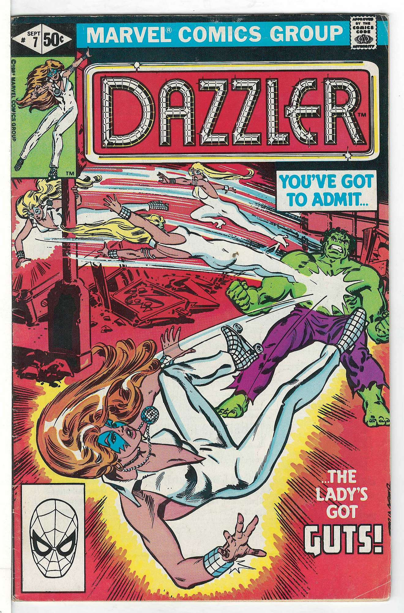 Cover of Dazzler (Vol 1) #7. One of 250,000 Vintage American Comics on sale from Krypton!