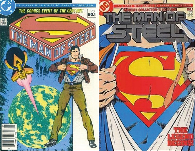 Variants covers for Man of Steel issue 1