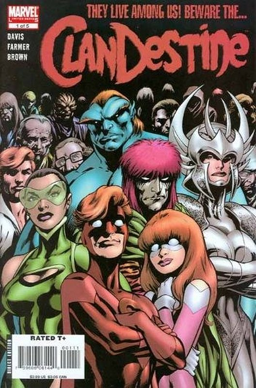 Cover of Clandestine (2008 Ltd) #1. One of 250,000 Vintage American Comics on sale from Krypton!