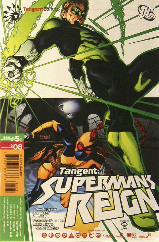 Cover of Tangent: Supermans Reign (2008 Ltd) #5. One of 250,000 Vintage American Comics on sale from Krypton!