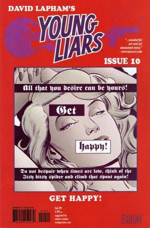 Cover of Young Liars (Vol 1) #10. One of 250,000 Vintage American Comics on sale from Krypton!
