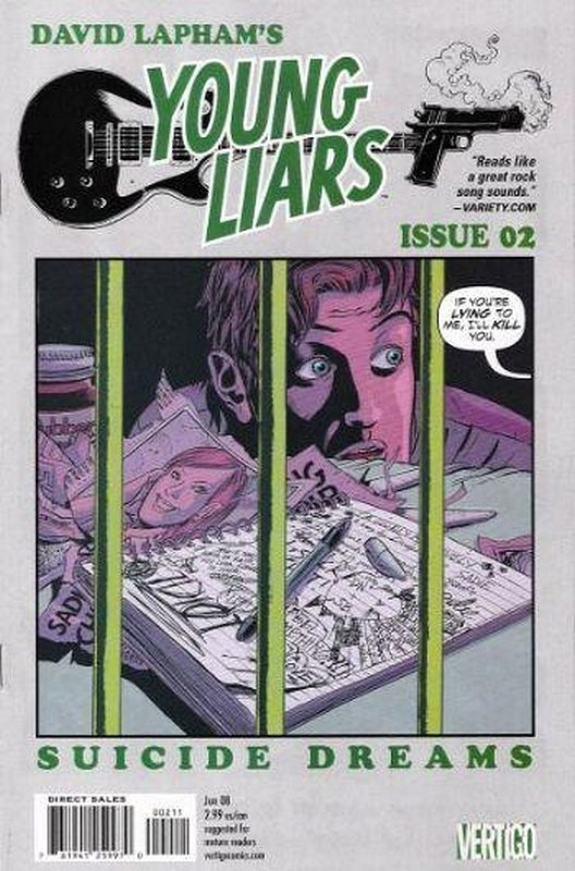 Cover of Young Liars (Vol 1) #2. One of 250,000 Vintage American Comics on sale from Krypton!